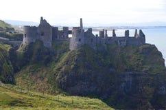 Dunluce Castle. Is located in northern ireland coastline Stock Photo