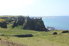 Dunluce Castle, north Antrim, Northern Ireland. Royalty Free Stock Image