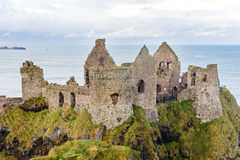 Dunluce castle in Northern Ireland Royalty Free Stock Photos