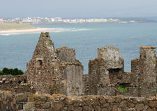Dunluce Castle & Portrush Royalty Free Stock Image