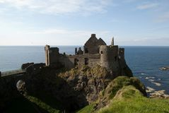 Dunluce Castle. The ruins of Dunluce Castle, Causeway Coast, Northern Ireland Royalty Free Stock Photo