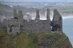 Dunluce Castle Ruins. Dunluce Castle is in Northern Ireland Stock Photo