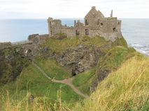 Dunluce Castle Ruins Royalty Free Stock Photography