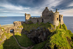 Dunluce Castle. Ruins of Dunluce Castle, Northern Ireland, Co. Antrim royalty free stock image