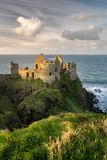 Dunluce Castle at Sunset stock images