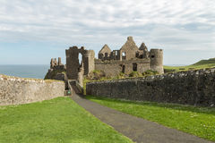 Dunluce Castle. View of the medieval Dunluce Castle, Portrush, Northern Ireland Stock Images