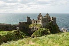 Dunluce Castle. View of the medieval Dunluce Castle, Portrush, Northern Ireland Stock Image