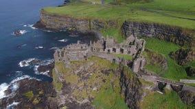 Dunluce kasztel Antrim Północny - Ireland 2017 obraz royalty free