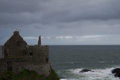 Dunluce-Schloss, Antrim, Nordirland Lizenzfreies Stockfoto