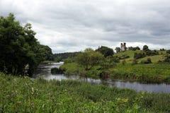 Dunmoe城堡废墟  免版税库存图片