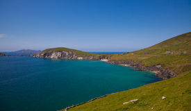 Dunmore head. And beach in Coumeenoole Bay, Dingle Peninsula, Ireland Royalty Free Stock Images