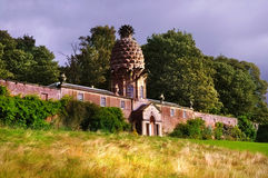 The Dunmore Pineapple. Is a folly said to rank as the most bizarre building in Scotland. This building is situated in Dunmore Park Stock Image