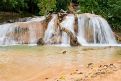 Dunn's River Falls. In Ocho Rios Jamaica late afternoon Royalty Free Stock Images