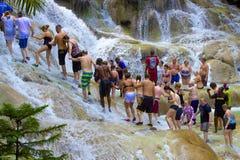 Dunn's river falls, Jamaica, Caribbean Stock Photo