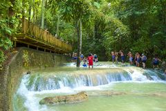 Dunn's river falls, Jamaica, Caribbean Royalty Free Stock Photos
