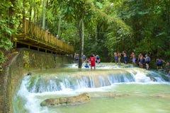 Dunn's river falls, Jamaica, Caribbean Royalty Free Stock Photos