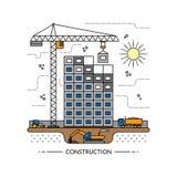 Dunne het conceptenillustratie van de lijnbouwwerf royalty-vrije illustratie