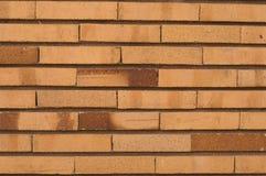Dunne horizontale bakstenen muur Royalty-vrije Stock Afbeelding