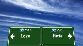 Dunne Lijn tussen liefde en haat Stock Afbeeldingen