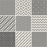 Dunne lijnenachtergronden met eenvoudige patronen Stock Fotografie