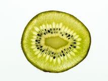 Dunne plak van kiwifruit royalty-vrije stock afbeeldingen