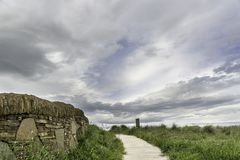 Dunnet海湾beag风景  库存照片