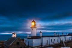 Dunnet głowy latarnia morska, Caithness Zdjęcie Stock