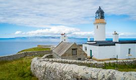 Dunnet Head Lighthouse, in Caithness, on the north coast of Scotland, the most northerly point of the mainland of Great Britain. Stock Images