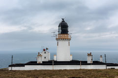 Dunnet Head lighthouse complex in North Scotland. Stock Photography