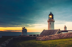 Dunnet Head lighthouse Royalty Free Stock Photo