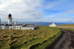 Dunnet Head lighthouse Royalty Free Stock Images