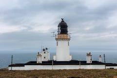 Dunnet-Kopf-Leuchtturmkomplex in Nord-Schottland Stockfotografie