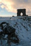 Dunnideer slott och kullefort, Aberdeenshire Arkivbild