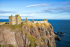 Dunnotar Castle in Scotland Royalty Free Stock Images