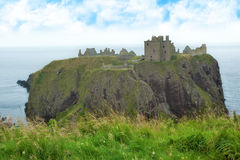 Ruins of Dunnotar castle, Scotland Royalty Free Stock Image
