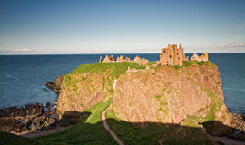 Dunnotar castle at Sunset Royalty Free Stock Image