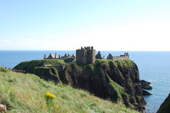 dunnottar城堡的海岸 库存图片