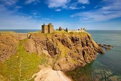 Dunnottar城堡,阿伯丁郡,苏格兰 库存图片