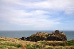 dunnottar的城堡stonehaven 免版税库存图片