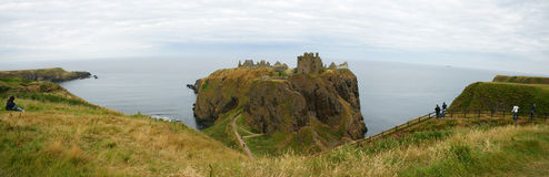 Dunnottar Castle. Ruins of Dunnottar Castle in Scotland Royalty Free Stock Photo