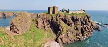 Dunnottar Castle, Aberdeenshire, Scotland. A panorama of Dunnottar Castle in Scotland Stock Photo