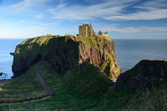 Dunnottar Castle with blue sky background Royalty Free Stock Photo