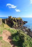Dunnottar Castle with blue sky in - Stonehaven, Aberdeen Royalty Free Stock Photography