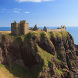 Dunnottar Castle with blue sky in - Stonehaven Stock Photo