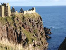 Dunnottar Castle near Stonehaven, Aberdeenshire, Scotland, Royalty Free Stock Images