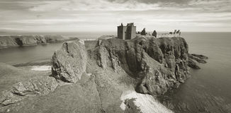 Dunnottar castle ruins in scottish coastline. Stonehave. Scotlan Royalty Free Stock Photo