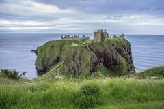 Dunnottar Castle ruins. Stonehaven, Aberdeenshire, Scotland. royalty free stock photos
