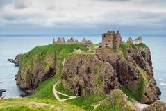 Dunnottar castle. Ruins of Dunnottar castle, Stonehaven near Aberdeen in Scotland Stock Image