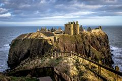 Dunnottar castle in Scotland royalty free stock image
