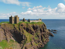 Dunnottar castle, Scotland north east coastline. Dunnottar is a ruined medieval fortress Stock Photos